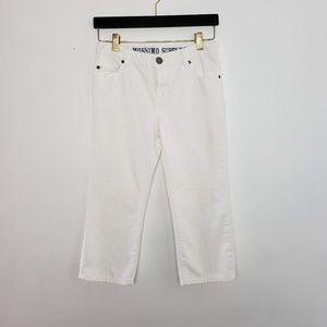 Mossimo Supply Co crop white jeans